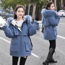 冬季外套女派克服中長款棉服韓版大碼寬鬆羽...