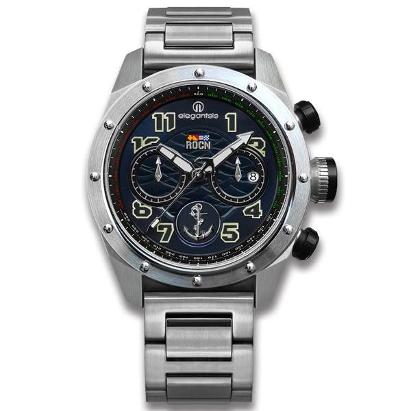 elegantsis★贈錶帶 / ELJX47QS-ROCN BK / 限量 中華民國海軍艦隊款 不鏽鋼手錶 深藍色 47mm