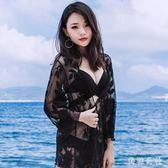 海邊度假外搭比基尼印花泳衣罩衫 性感鏤空繡花蕾絲開衫防曬衫小外套TT2064『美鞋公社』