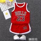男童套裝 兒童籃球服短袖套裝男童幼兒園女童小學生比賽訓練服籃球衣表演服 韓菲兒