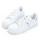 PLAYBOY 閃閃霓光貝殼小白鞋 -白貝殼(Y7221)