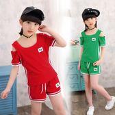 女童夏裝新款童裝兩件套中大童小女孩休閒運動套裝10歲