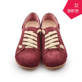 【A.MOUR 經典手工鞋】反毛饅頭- 紫珊紅 / 氣墊鞋 / 平底鞋 / 進口小牛皮 / 超軟饅頭鞋/ DH-2808