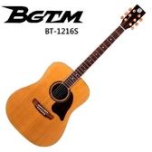 ★BGTM★頂級紅松單板吉他BT-1216S-內建Shadoe P7拾音器
