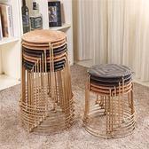 輕便實用易收納折疊藤編小圓凳子矮凳餐凳椅子塑料凳鐵凳板凳家用