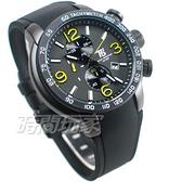 T5 sports time 三眼計時碼表 賽車錶 數字 學生錶 防水手錶 日期視窗 男錶 IP黑x黃 H3450G黃黑