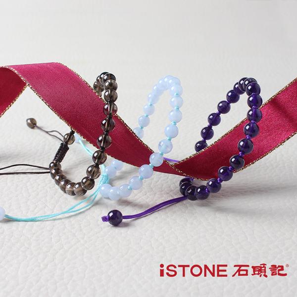 紫水晶編結手鍊-福氣貴人 石頭記