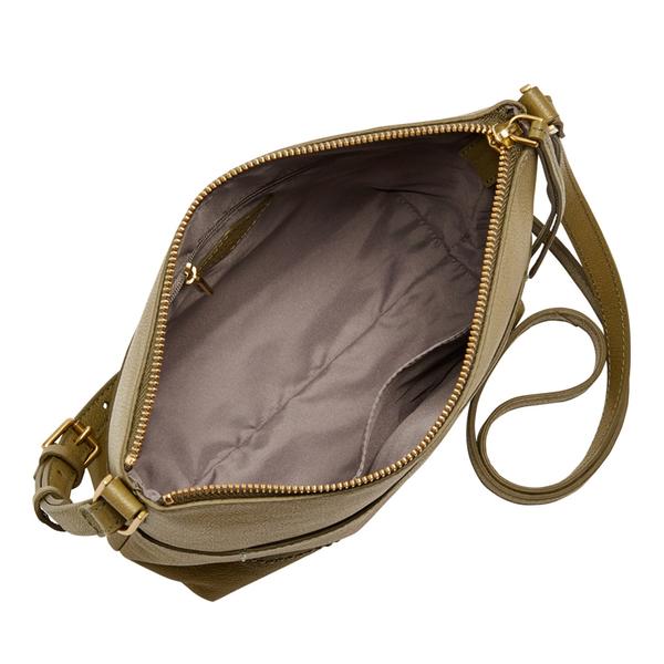 [雙12限定價] FOSSIL AMELIA 真皮瘦瘦水桶包-橄欖綠