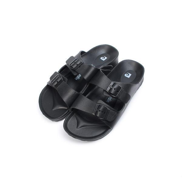 皮爾卡登 輕量腳床雙帶拖鞋 黑 MA18 男