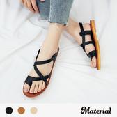 涼鞋 交叉夾腳平底涼鞋 MA女鞋 T2117