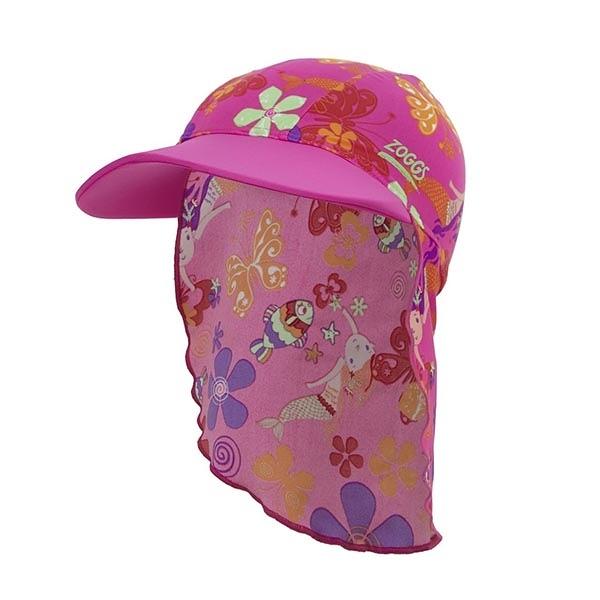*日光部屋* ZOGGS (公司貨)/7615170 Mermaid Flower 幼童小人魚護頸遮陽帽