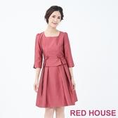 【RED HOUSE 蕾赫斯】金蔥蝴蝶結洋裝(共兩色)