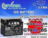 ✚久大電池❚ GS 機車電池 機車電瓶 GTX4L-BS MAN BOY 50 豪美 50 風神 DJ 50 翔鶴 50