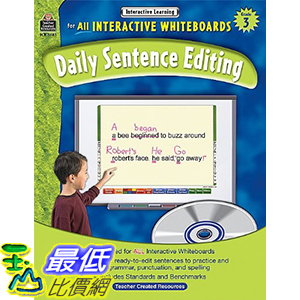 [106美國暢銷兒童軟體] Interactive Learning: Daily Sentence Editing (Gr. 3)