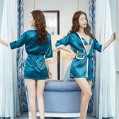 情趣睡衣 情趣服 誘惑巴黎三點式睡裙(浴袍)藍【全面86折390免運】