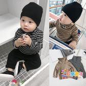 霖霖家童裝 男嬰兒打底衫冬裝2018新款 寶寶高領T恤 兒童上衣嬰童