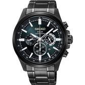 SEIKO Criteria 台灣限定太陽能計時碼錶-黑