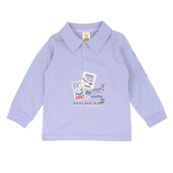 【愛的世界】純棉長袖POLO衫/6~8歲-台灣製- ★秋冬上著
