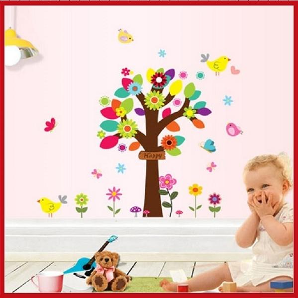 壁貼--美麗花世界 MJ9006-021【AF01013-021】i-Style居家生活