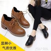 短靴女2021年新款粗跟高跟春秋單靴子百搭馬丁靴英倫風小皮鞋 夏季新品