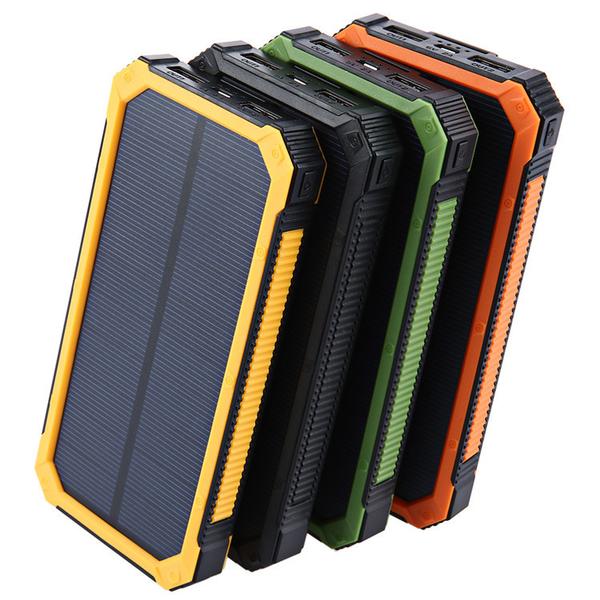 三防大容量太陽能行動電源20000mah 戶外防水禮品充電寶行動充