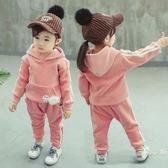 女寶寶秋裝套裝0一1-2-3歲韓版潮小童時尚兩件套洋氣四歲女童秋裝