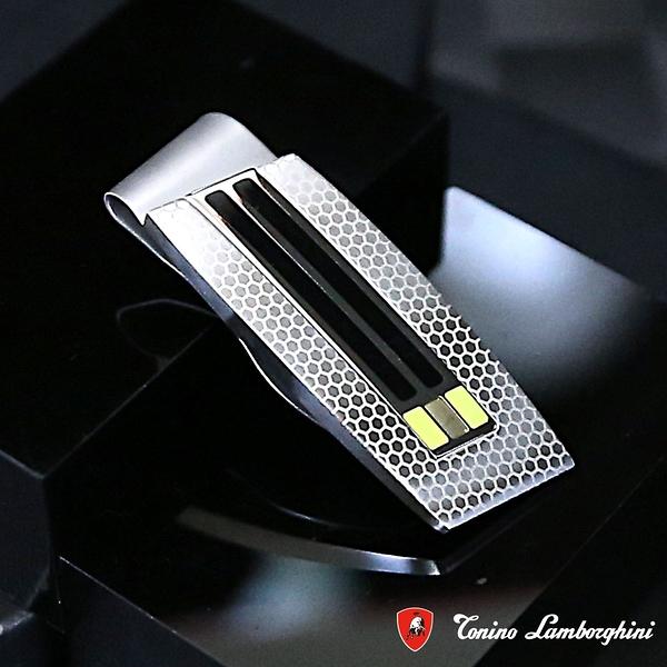 藍寶堅尼Tonino Lamborghini CORSA Green 錢夾 鈔票夾 防抗過敏 SUS316L頂級不鏽鋼 義大利精品