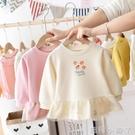 女童洋裝洋氣春裝2020新款短款童裝兒童裙子寶寶長袖娃娃裙春秋 蘿莉新品