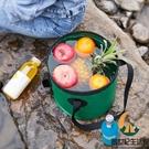 戶外可折疊水桶袋打水釣魚桶水盆便攜式旅行露營儲水桶裝水桶野餐【創世紀生活館】