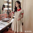 夏裝新款很仙的法國小眾桔梗裙小清新收腰顯瘦娃娃領洋裝裙 QQ29333『東京衣社』
