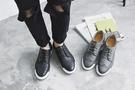 FINDSENSE品牌 新款簡約男士舒適 拼色 系帶皮質 滑板鞋 休閒鞋