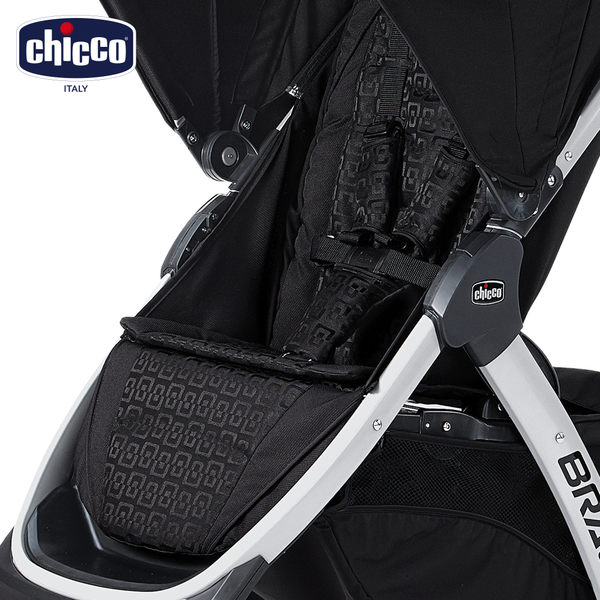chicco-Bravo椅套+五點式安全帶+護套(優雅黑)
