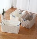 收納籃 廚房收納筐家用雜物收納盒塑料收納籃浴室洗澡籃子零食水果儲物籃【快速出貨八折鉅惠】