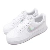 Nike 休閒鞋 Wmns Air Force 1 07 ESS 白 銀 女鞋 皮革 基本款 運動鞋【ACS】 CJ1646-100