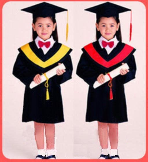 兒童攝影服 小學生幼兒園畢業 表演用 學士、博士帽