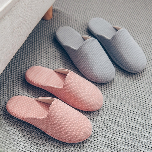 [現貨] 無印風直條紋柔軟拖鞋 室內拖 男女情侶拖鞋 保暖拖 靜音拖鞋 DT408