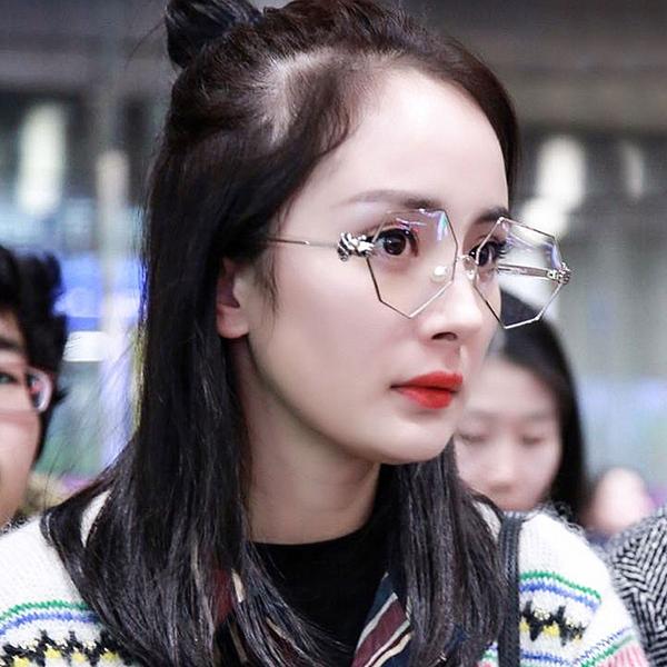 眼鏡 超潮明星同款八角不規則菱形平光眼鏡【O3305】☆雙兒網☆