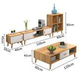 一件免運-北歐電視櫃簡約現代組合套裝茶几臥室電視機櫃歐式小戶型客廳櫃WY