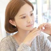 【全館】現折200925銀珍珠簡約清新氣質韓國版潮人個性森系耳環耳釘女無耳洞耳夾