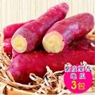 【陪你購物網】紫皮栗香地瓜(1kg) 3包入|高纖低卡|超人氣團購美食|買越多越便宜