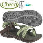 Chaco EZW02-HB41青水綠 女冒險旅遊涼鞋-Z/Volv2夾腳款