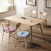 日本直人木業-日式全實木四張幸福椅搭配165公分全實木餐桌(高級山毛櫸實木)