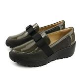 Kimo 休閒鞋 懶人鞋 厚底 墨綠色 女鞋 K18WF145011 no779
