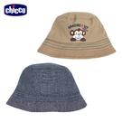 chicco-頑皮猴-條紋雙面漁夫帽