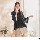 《AB12243-》氣質透膚蕾絲寬版緞布...