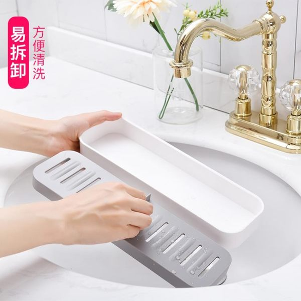 肥皂盒吸盤壁掛瀝水兩格創意隔水皂架衛生間大號掛鉤香皂盒免打孔