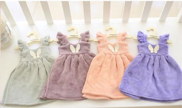 可愛洋裝擦手巾2 純棉吸水公主裙掛式擦手巾