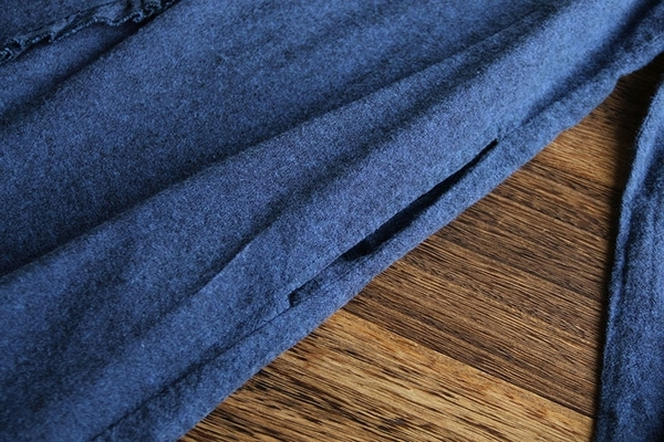 東京奈奈日系森林系荷葉邊翻領長袖磨毛棉襯衫連身裙[j67436]