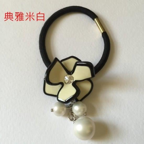 立體翹珍珠花朵髮束-法國知名品牌,韓星御用韓國製造