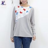 【秋冬新品】American Bluedeer - 印花拼接上衣 二色